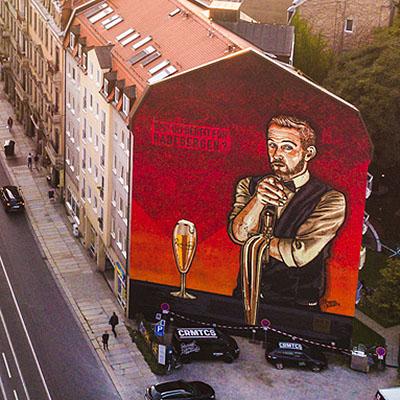 Radeberger Bier Mural