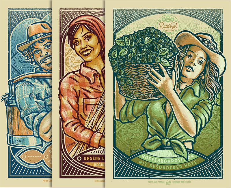 Drei Radeberger Artprints